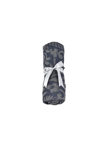 Dolce Bonita Home Wear Kadın Şal 90X170 Cm Otantik Mini Lacivert